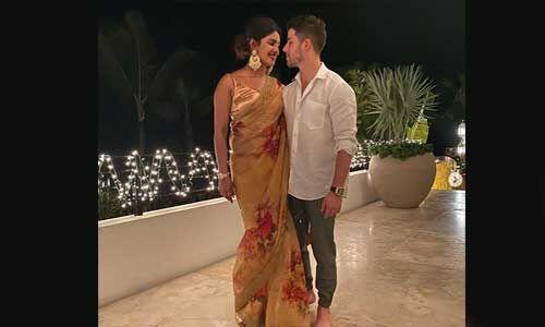 प्रियंका ने अपने पति निक के साथ मनाई पहली दिवाली