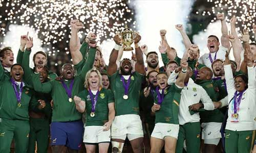 साउथ अफ्रीका ने तीसरी बार जीता रग्बी विश्व कप का खिताब