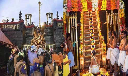 सबरीमाला मंदिर के खुले कपाट, नहीं जा सकीं महिलाएं