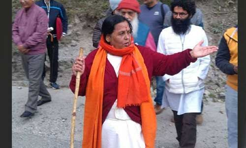 उमा भारती गंगोत्री से गंगासागर की पदयात्रा के दौरान हुईं चोटिल