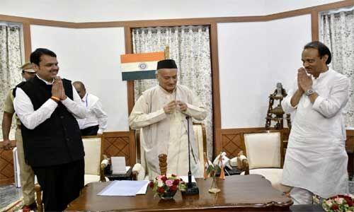 महाराष्ट्र की राजनीति में बड़ा उलटफेर, भाजपा-एनसीपी ने बनाई सरकार