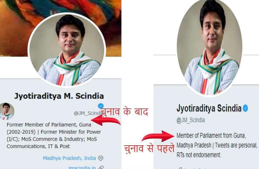 ज्योतिरादित्य सिंधिया ने कांग्रेस के सभी पदों को छोड़ा !