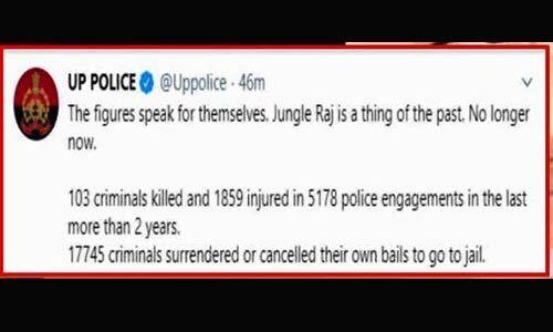 मायावती के ट्वीट पर यूपी पुलिस का रीट्वीट, जंगल राज अतीत की बात