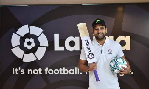 रोहित शर्मा बने स्पेनिश फुटबॉल लीग ला-लिगा के ब्रांड एम्बेसडर