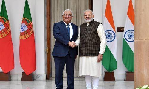 मोदी ने की पुर्तगाल के प्रधानमंत्री एंटोनियो कोस्टा से मुलाकात