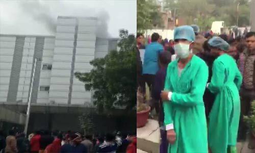 नोएडा सेक्टर -24 के ESIC अस्पताल में लगी आग, मरीजों को निकाला