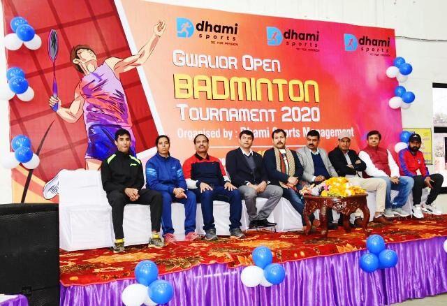 शहर में प्रथम ग्वालियर ओपन बैडमिंटन प्रतियोगिता  का शुभारंभ