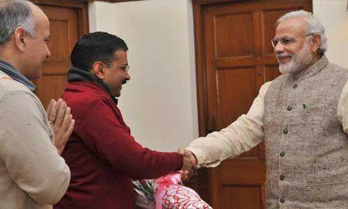 अरविंद केजरीवाल ने प्रधानमंत्री नरेन्द्र मोदी को शपथ ग्रहण समारोह का दिया न्यौता