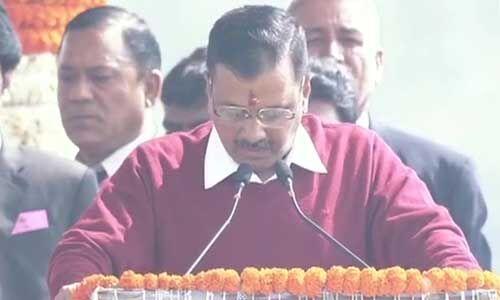 केजरीवाल ने तीसरी बार ली दिल्ली के मुख्यमंत्री पद की शपथ, पीएम से चाहता हूं आशीर्वाद