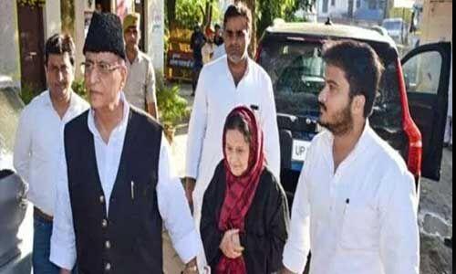 पत्नी और बेटे के साथ जेल भेजे गए एसपी सांसद आजम खान