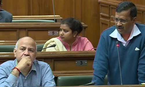 विधानसभा में बोले अरविंद केजरीवाल - दिल्ली के आम लोग हिंसा में नहीं हैं शामिल