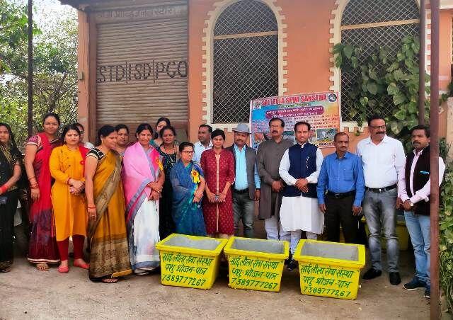 ग्वालियर: अनूठी पहल करते हुए साईं लीला सेवा संस्था कॉलोनियों में रखेगी भोजन पात्र