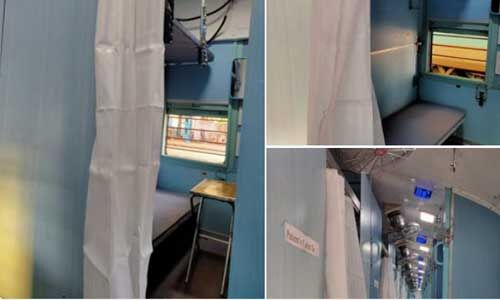 Covid-19 से लड़ने को भारतीय रेलवे ने तैयार किए आइसोलेशन कोच, देखें फोटो