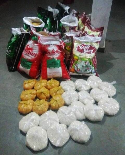 लॉकडाउन :सेवा भारती ने खाने के 400 पैकेट दान किए