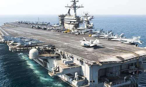 अमेरिकी विमान वाहक पोत के 10 फीसद से ज्यादा नौसैनिक कोरोना संक्रमित