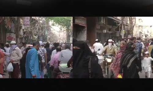 दिल्ली के इस जगह उड़ी लॉकडाउन की धज्जियां, सोशल डिस्टेंसिंग भी ताक पर