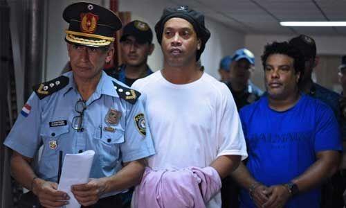 फर्जी पासपोर्ट के जुर्म में रोनाल्डिन्हो गिरफ्तार