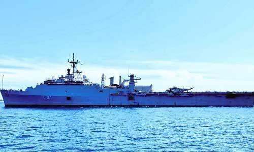 नौसेना ने हिंद महासागर क्षेत्र में कई देशों के लिए चिकित्सा और खाद्यान्न सामग्री भेजीं