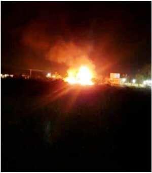 ग्वालियर : डम्पर और ट्रक में टक्कर से लगी आग, ड्राइवर एवं क्लीनर की हुई मौत