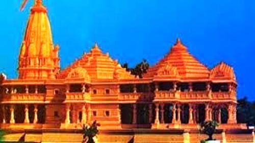 राम मंदिर का निर्माण कार्य हुआ शुरू, महंत नृत्यगोपाल दास ने किये दर्शन