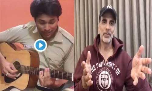 पुलिसवाले ने गिटार पर गाया तेरी मिट्टी...,मुरीद हुए अक्षय कुमार