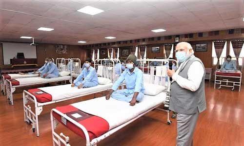 गलवान के घायलों से मिले प्रधानमंत्री, बढ़ाया हौसला