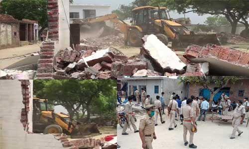 कानपुर : जिस JCB से रोका, उसी से नेस्तनाबूद किया गया विकास दुबे का किला