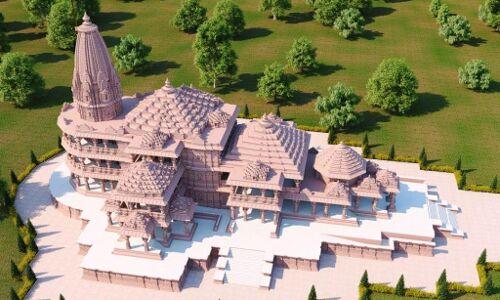 Photo/ अयोध्या में राम मंदिर भूमि पूजन की तैयारियां पूर्ण, देखें तस्वीरें