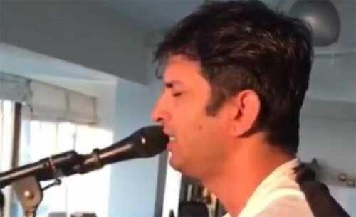 सुशांत श्री कृष्ण गोविंद हरे मुरारी भजन गाते हुए, वीडियो हुआ वायरल