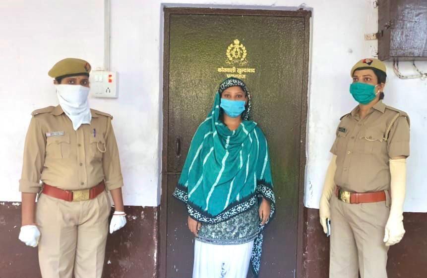 हिंदू देवी-देवताओं पर अभद्र भाषा का प्रयोग करने वाली हीर खान को पुलिस ने किया गिरफ्तार