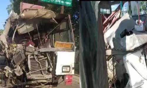 दर्दनाक हादसा : लखनऊ में दो रोडवेज बसों की टक्कर, 6 लोगों की मौत