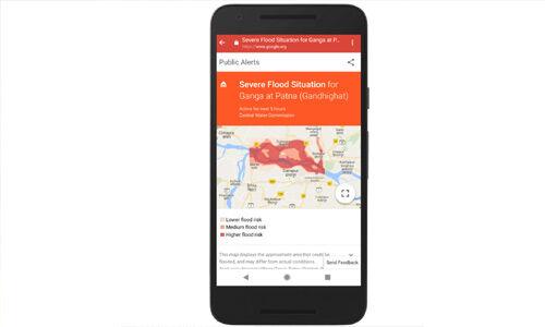 अब गूगल देगा पूरे भारत को बाढ़ के पूर्वानुमान की जानकारी और भेजेगा अलर्ट