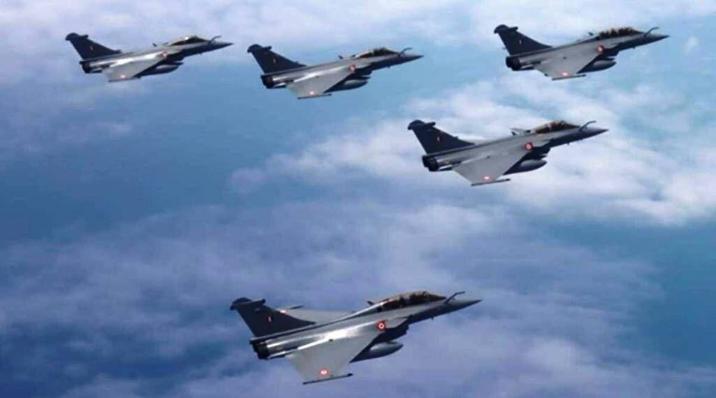 भारत की ताकत बन राफेल अंबाला एयरबेस पर भारतीय वायुसेना में शामिल