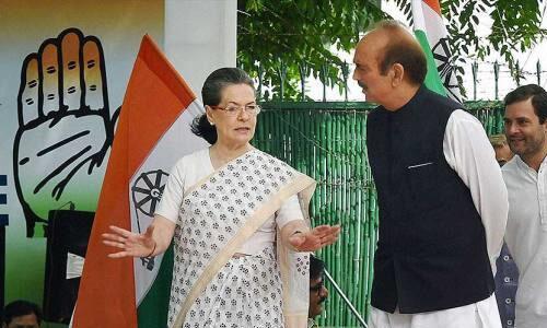 सोनिया ने आजाद को महासचिव के पद से हटाया, जितिन प्रसाद बने बंगाल के प्रभारी