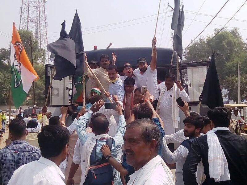 सीएम शिवराज और सांसद सिंधिया के आगमन से पहले कांग्रेस नेता गिरफ्तार