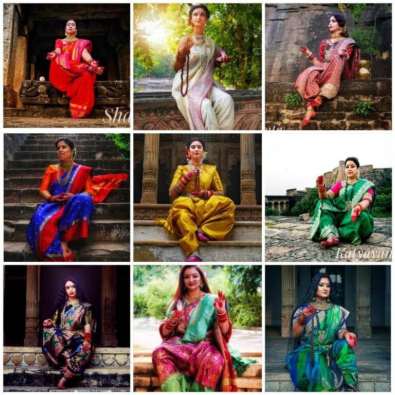 दुर्गा के नौ रूपों को धारण किया महिलाओं ने