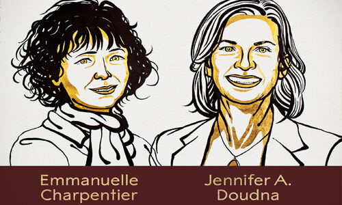 इमैनुअल शार्पेंची और जेनफिर डाउडना को केमिस्ट्री में मिला नोबेल पुरस्कार