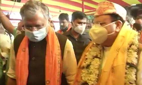 भाजपा के राष्ट्रीय अध्यक्ष जगत प्रकाश नड्डा ने पटना में हनुमान मंदिर में पूजा की