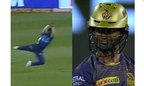 मुंबई के बल्लेबाज सूर्यकुमार यादव ने पकड़ा हैरतअंगेज कैच