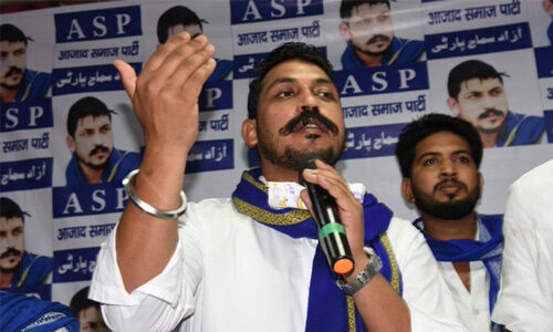 भीम आर्मी चीफ चंद्रशेखर आजाद ने दावा किया, कहा - मेरे काफिले पर चलाई गई गोलियां