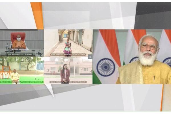 प्रधानमंत्री ने वाराणसी में 614 करोड़ के विभिन्न विकास कार्यों का किया शिलान्यास