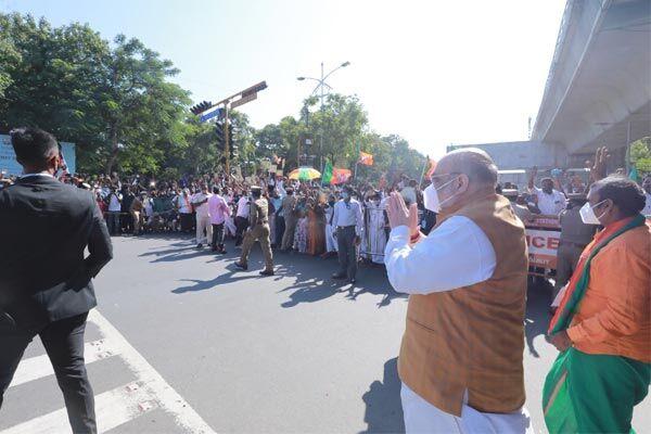 अब दक्षिण पर भाजपा की नजरें, चेन्नई पहुंचे गृह मंत्री अमित शाह