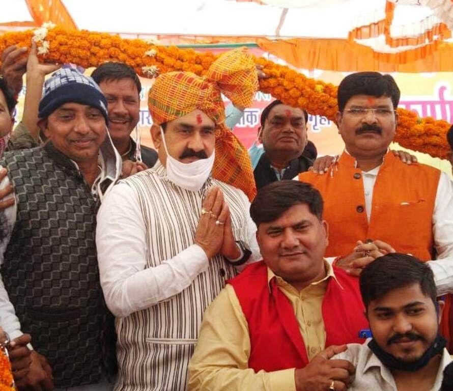 गृहमंत्री मिश्रा ने 10 करोड़ की लागत के निर्माण कार्यों का लोकार्पण किया