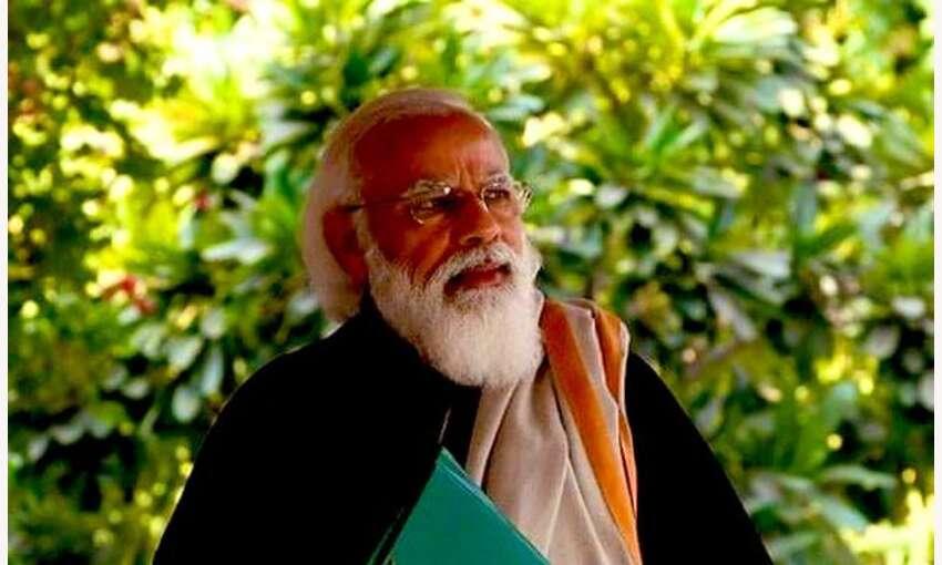 प्रधानमंत्री ने अभी तो सूरज उगा है कविता से की नये साल की शुरुआत