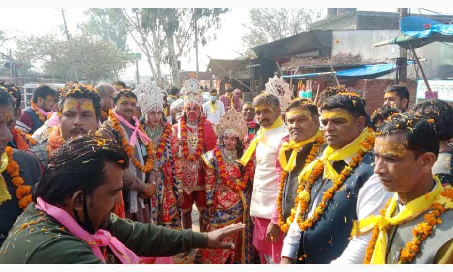 वृंदावन में राम जन्मभूमि निधि समर्पण अभियान को लेकर निकली जन जागरण यात्रा