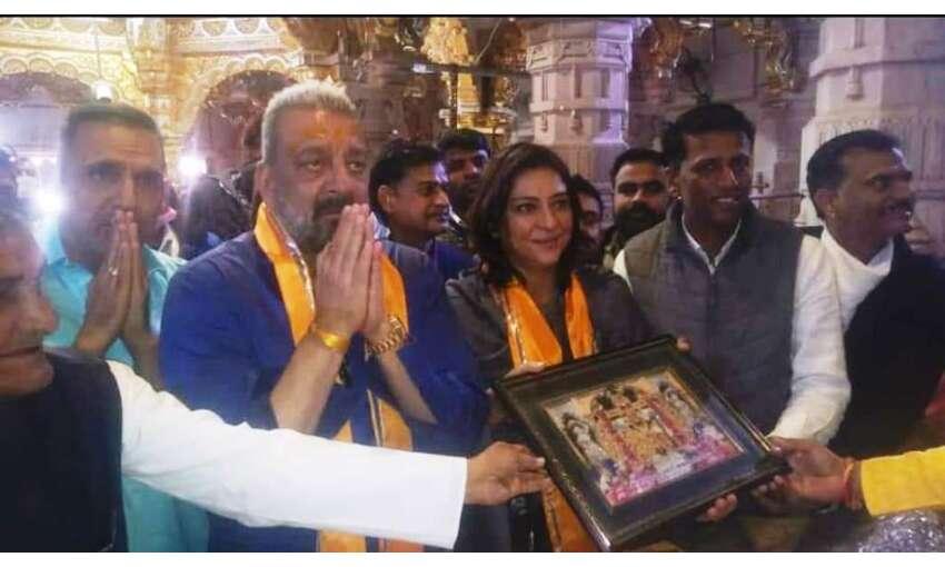 संजय दत्त ने सनलिया मंदिर में किये दर्शन