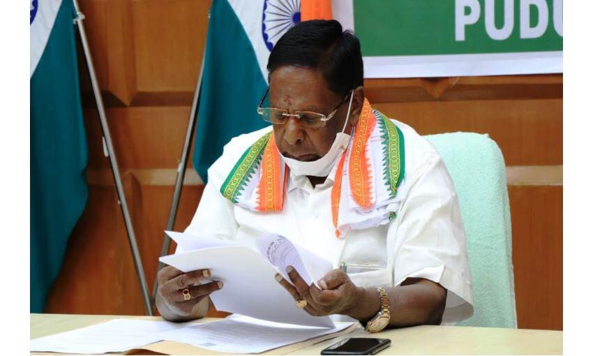 पुडुचेरी में गिरी कांग्रेस सरकार, फ्लोर टेस्ट में फेल
