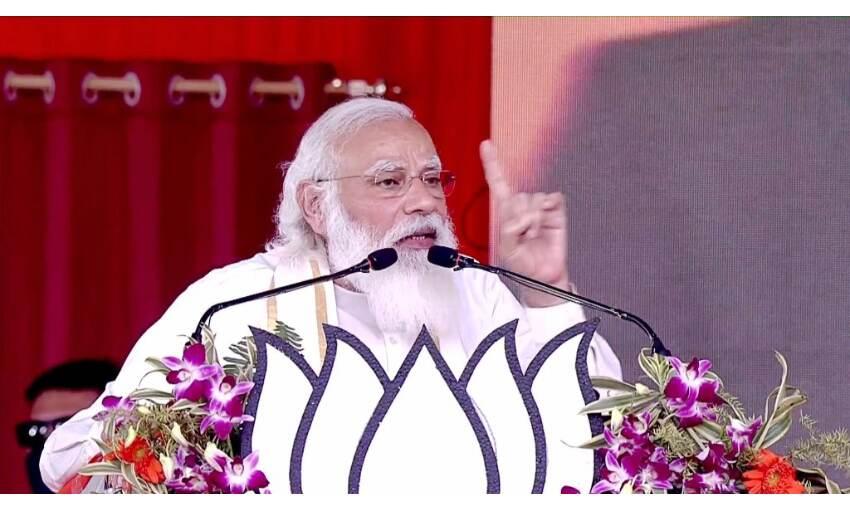 हुगली में प्रधानमंत्री ने कहा - बंगाल ने परिवर्तन का मन बना लिया