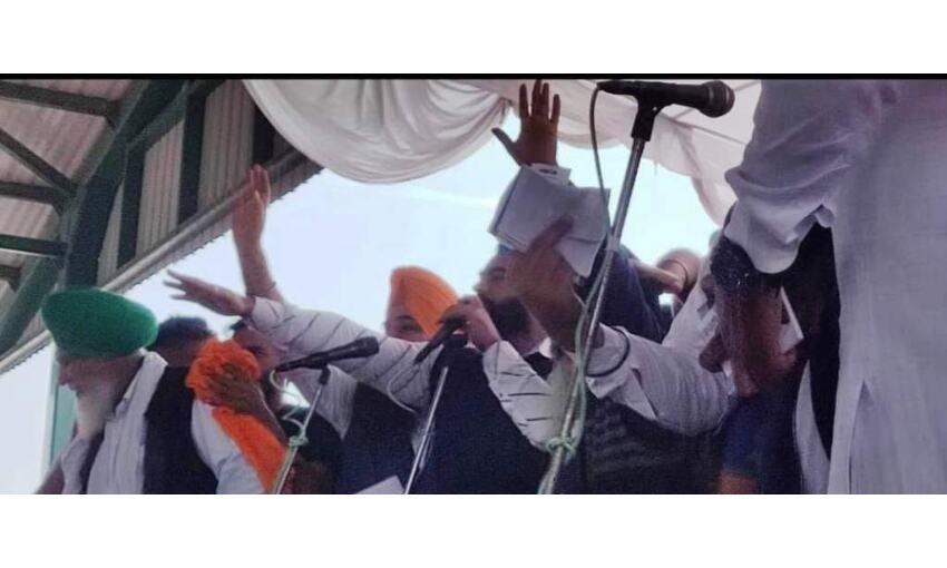 दिल्ली हिंसा का मुख्य आरोपी लक्खा सिधाना दिखा बठिंडा रैली में, नहीं हुई गिरफ्तारी