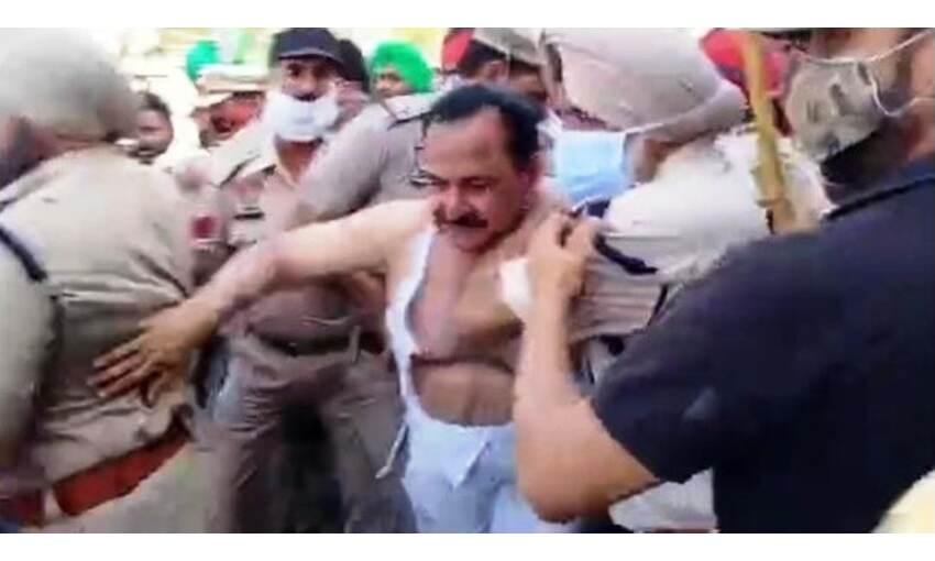 पंजाब में सामने आया किसानों का वीभत्स रूप, भाजपा विधायक को निर्वस्त्र कर मारा
